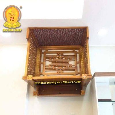 Bàn thờ treo gỗ mít đẹp để phòng khách