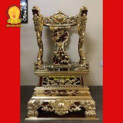 Mẫu Ngai Ỷ Thờ Gia Tiên Thếp Vàng 9999