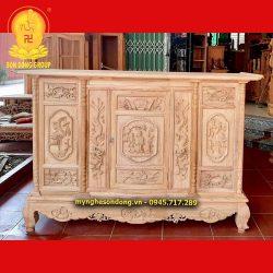 Tủ thờ gỗ hương đá loại to chạp tam đa, tứ linh đẹp xuất sắc